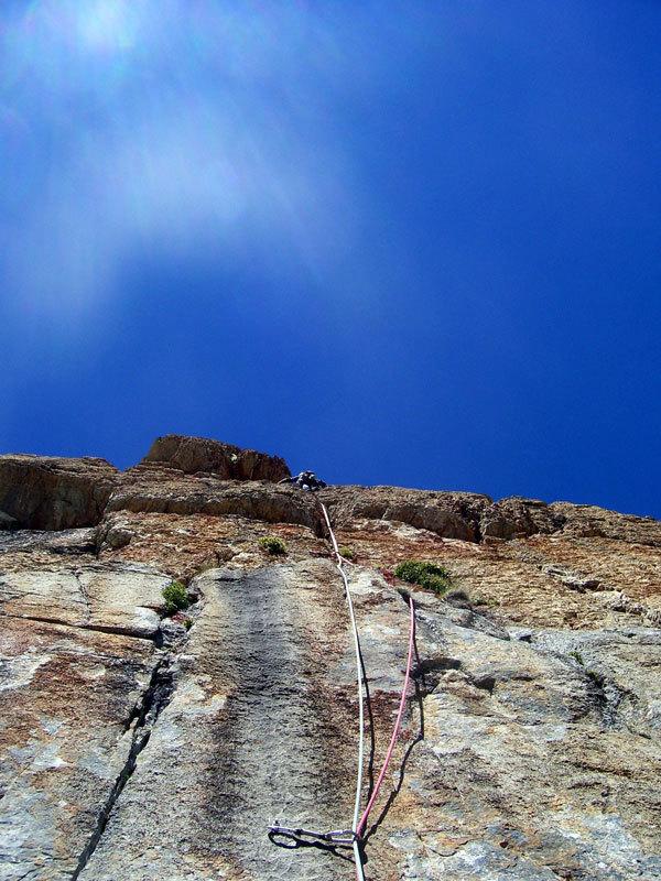 Max su L9 di Eppure il vento soffia ancora, Rocca la Meja, Val Maira, archivio L. Belliardo