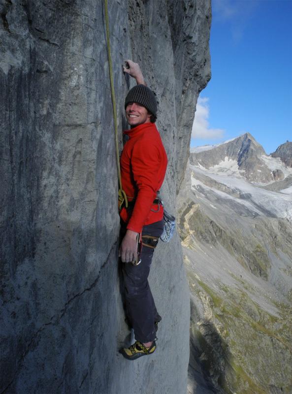 Silvan Schüpbach & Vera Reist durante la prima libera di La Röschtigraben (700m, 8a+, 7b obblig), Wendenstöcke, Svizzera, Silvan Schüpbach