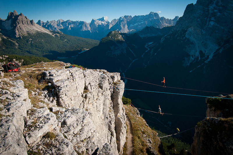 Monte Piana Highline Meeting, Dolomiti, A-TEAM