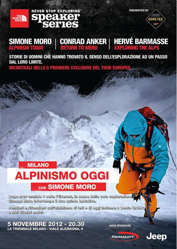 The North Face Speaker Series 2012: Simone Moro and alpinism today, The North Face