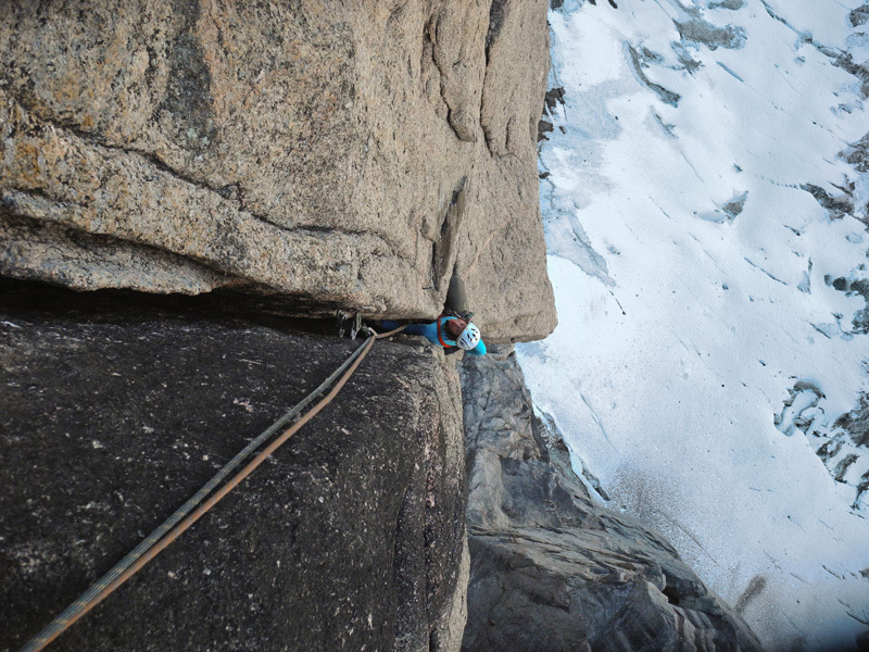 Atropa Belladonna (7a+, 550m), Swiss Renland Expedition
