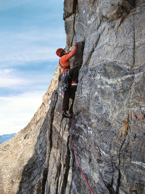 Die Ideallinie (7a, 500m), Swiss Renland Expedition