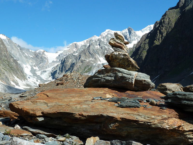 A typical mountain cairn,