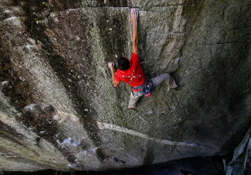Cristian Brenna, Sasso di Remenno: climbing Spirit Walker, Massimo Malpezzi