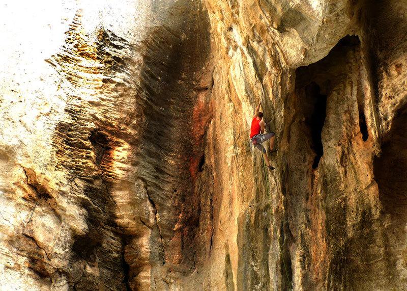 Mario Vanni alla grotta dell''Edera a Finale, Massimo Malpezzi