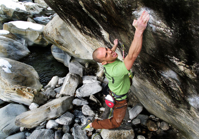 Extreme exit for Enrico Baistrocchi on Onix 8c, established at the Bock area fiume, Chironico, Massimo Malpezzi