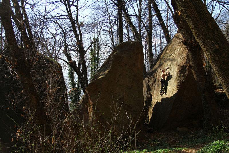 Crag in the Acqua Fraggia forest 'in Val Chiavenna, Massimo Malpezzi