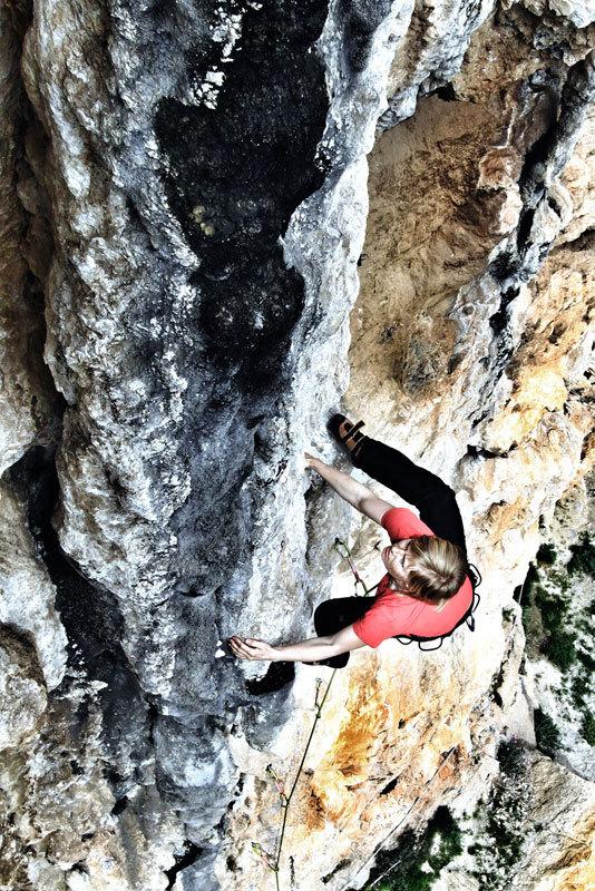 Tufa climbing at Positano, Massimo Malpezzi