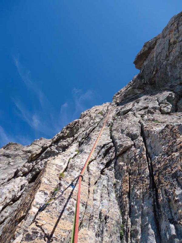 XXV Mario dell'Oro (650 mt, VI+ obbl., archivio Curti