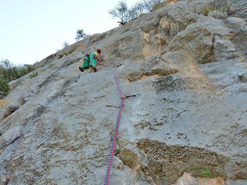 Cecilia Marchi making the first free ascent of La Nostra Svizzera, archivio Maurizio Oviglia