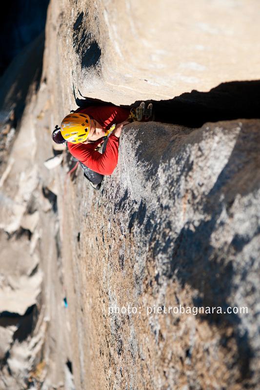 David Bacci su Freerider, El Capitan, Yosemite, Pietro Bagnara