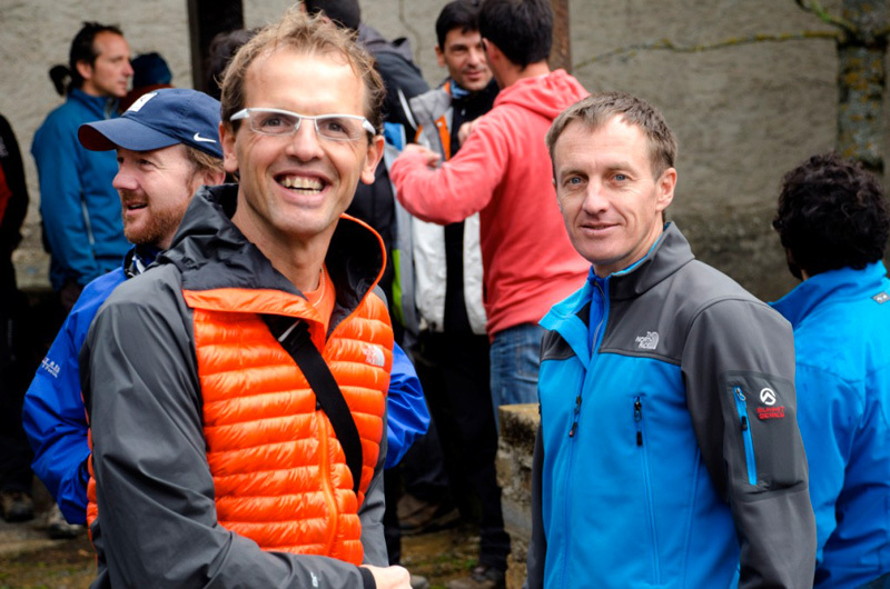 Simone Moro e Denis Urubko al European Mountain Meeting a Vielha, archivio Denis Urubko