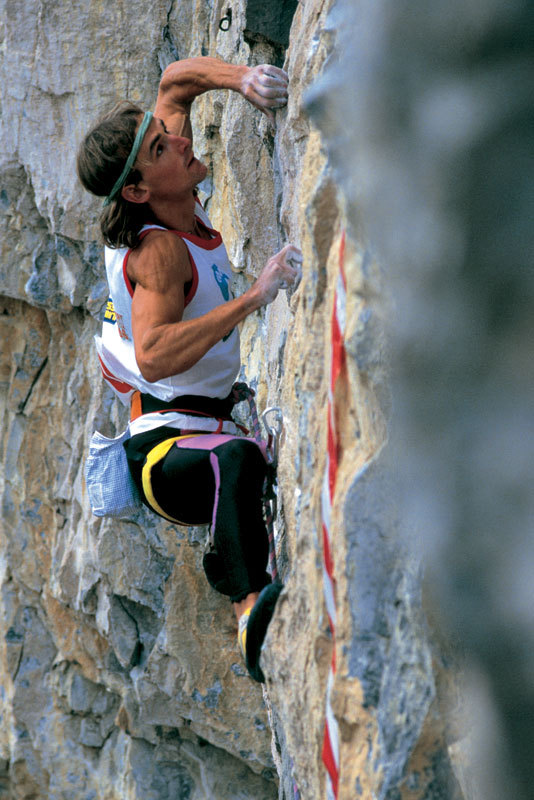 Patrick Edlinger competing at Sport Roccia Arco, 1986, www.fototonina.com