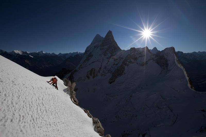 Renan Ozturk, Sharks Fin, Mount Meru, Garwal Himalaya, Jimmy Chin