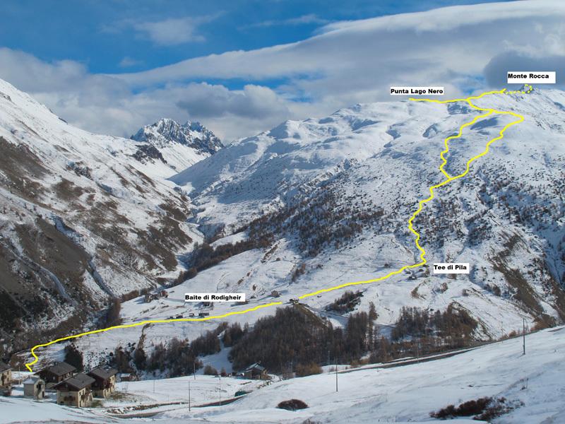 L'itinerario Monte Rocca e Punto Lago Nero, Eraldo Meraldi