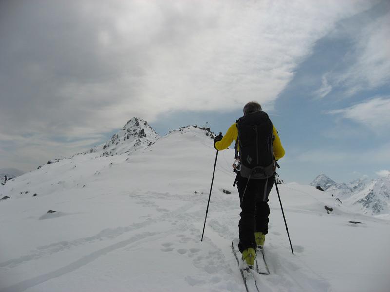 In prossimità della cima del Monte Rocca, Eraldo Meraldi