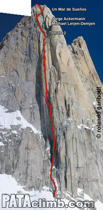 Un mar de suenos! (Jorge Ackermann, Michael Lerjen-Demjen, 1200m, 7a, A3, M4, 14-17/11/2012) , Rolando Garibotti