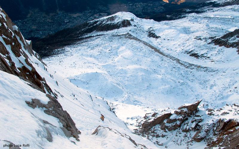 Voie Mallory, Aiguille du Midi, Mont Blanc, Luca Rolli