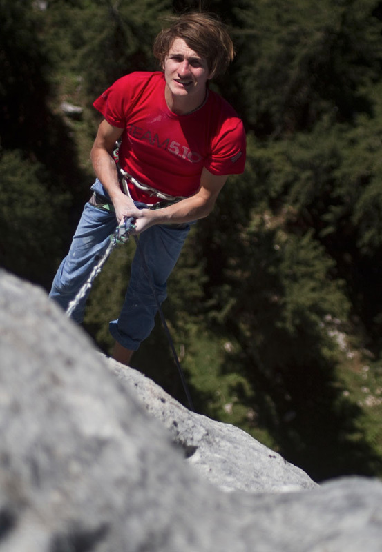 Il climber tedesco Roland Hemetzberger., Roland Hemetzberger