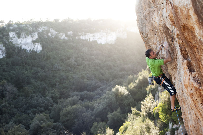Paolo Spreafico climbing in the province of Siracusa, Pietro Bagnara