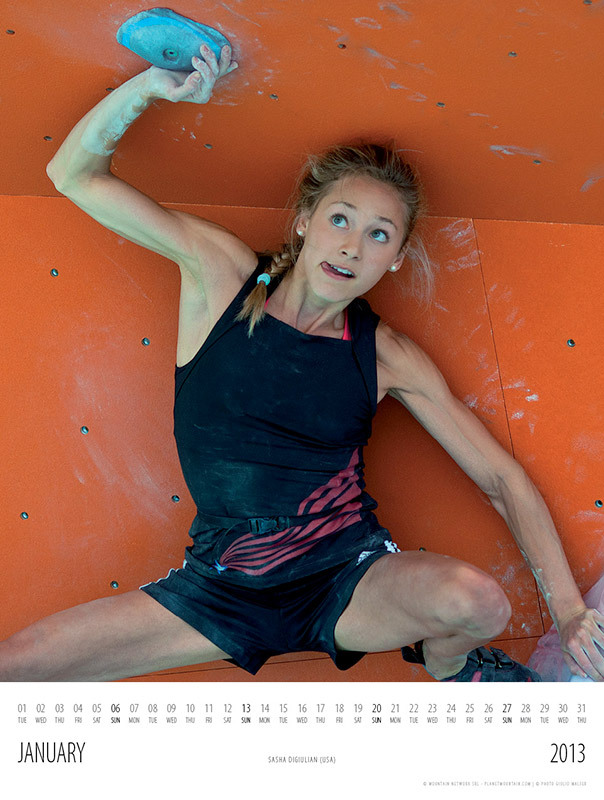Calendario 2013 Women in Climbing: Sasha DiGiulian, Giulio Malfer