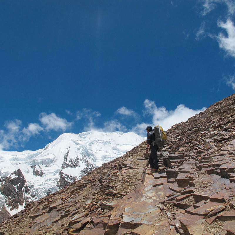 Illimani. Ascending to Nido de Condores, David Orlandi
