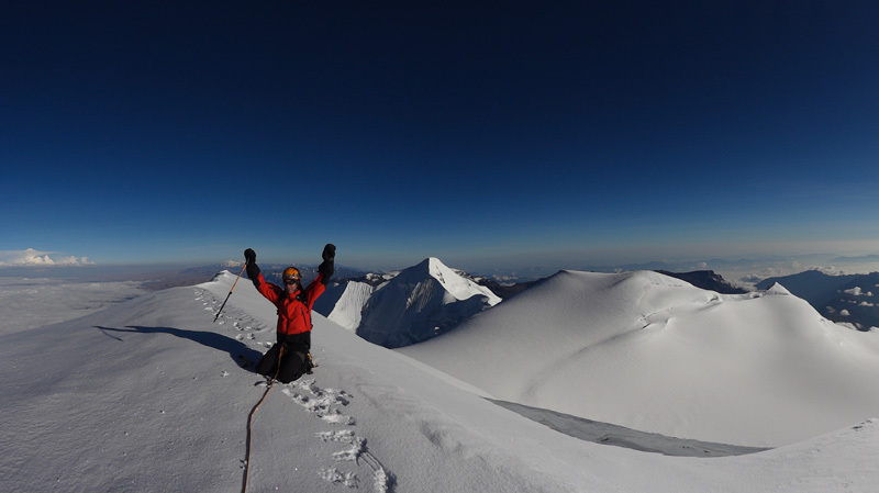 Illimani summit., David Orlandi
