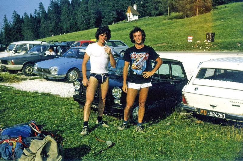 Gigi Dal Pozzo (a dx) con Sandro Neri al Passo Duran (1983)., Marampon