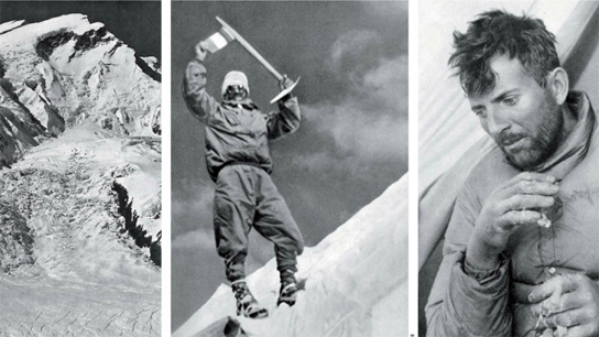 Maurice Herzog on Annapurna in 1950,