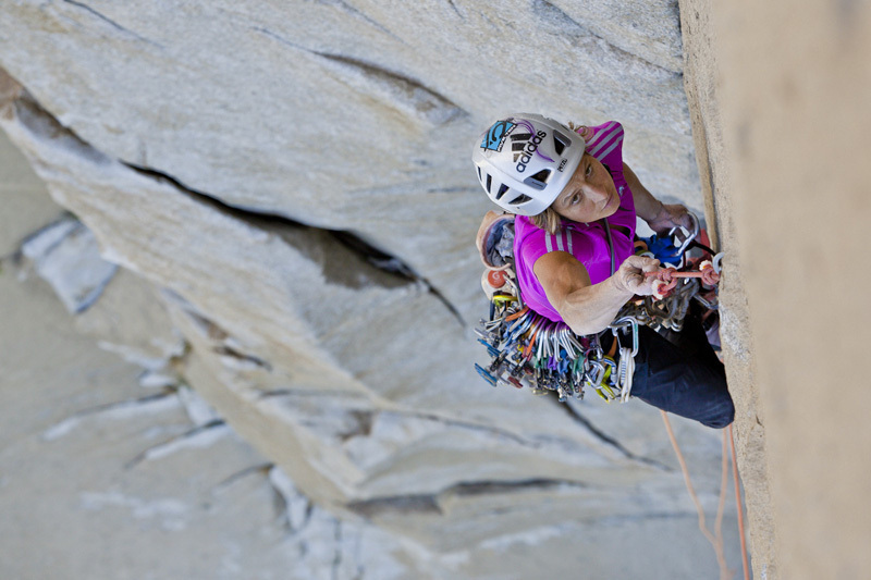 23/09/2012: Mayan Smith-Gobat and Chantel Astorga climb The Nose in 7:26, El Capitan, Yosemite., John Dickey
