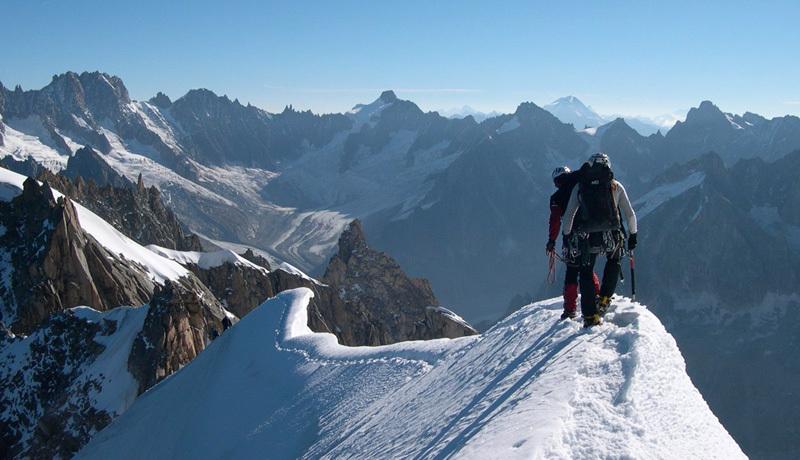 Midi-Plan ridge, Mont Blanc, Carlo Gabasio