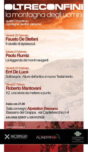 Paolo Rumiz e La leggenda dei monti naviganti a Bassano del Grappa per Oltreconfini. La montagna degli uomini, Planetmountain.com
