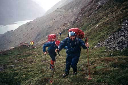 Ascent from Base Camp to Passo Viento., archivio Ragni Lecco