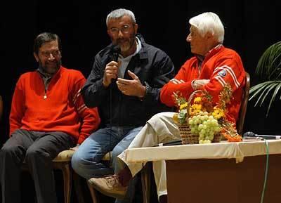 Giuliano Maresi, Daniele Chiappa, Walter Bonatti, Giulio Malfer