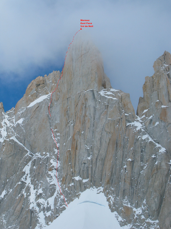 The East Face of Mermoz and the route Vol de Nuit (Andy Parkin solo, 1993), Corrado Pesce
