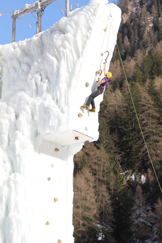 Angelika Rainer, campionessa del mondo di ice climbing, archivio A. Rainer