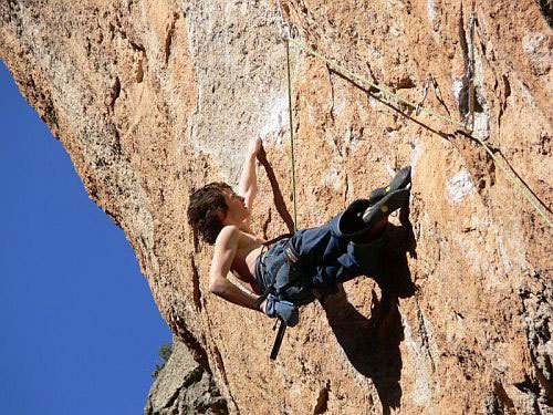 Adam Ondra climbing Broadway 8c+/9a at Siurana in February 2007., Ondra collection