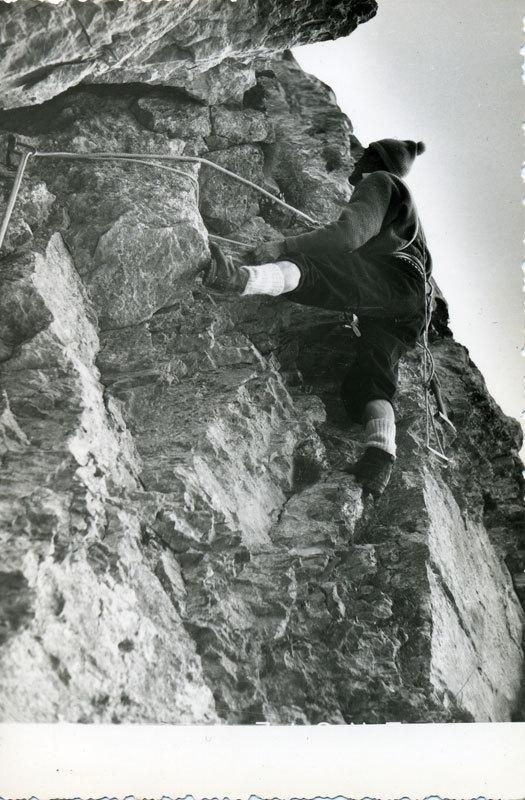 Elio-Mastroianni nel primo tentativo alla NE dello Scarason nel 1956, C. Aureli