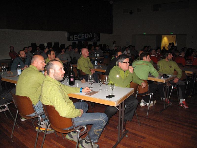 Durante Dolomia 2013, il raduno alpinistico che si è svolto il 12 e 13 gennaio in Val Gardena. , archivio Gruppo Catores