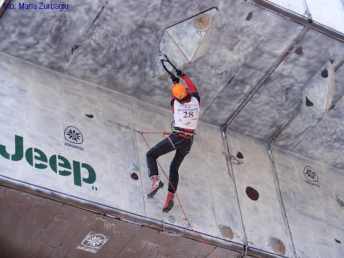The Ice Climbing World Cup 2008 in Busteni (RO) , Maria Zurbagiu