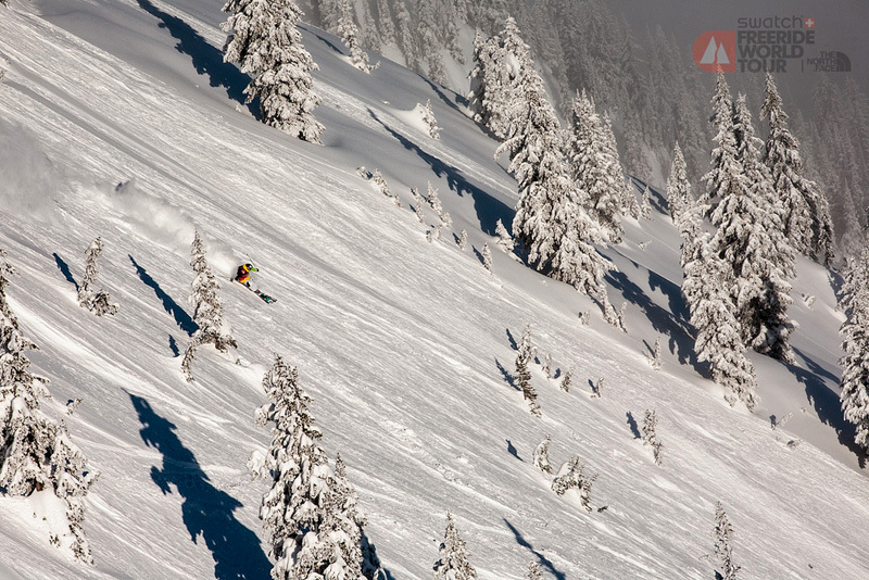 From 17 - 20/01/2013 the second stage of the Swatch Freeride World Tour by The North Face will take place in Courmayeur, Italy. This image was taken during the first stage at Revelstoke in Canada., The North Face