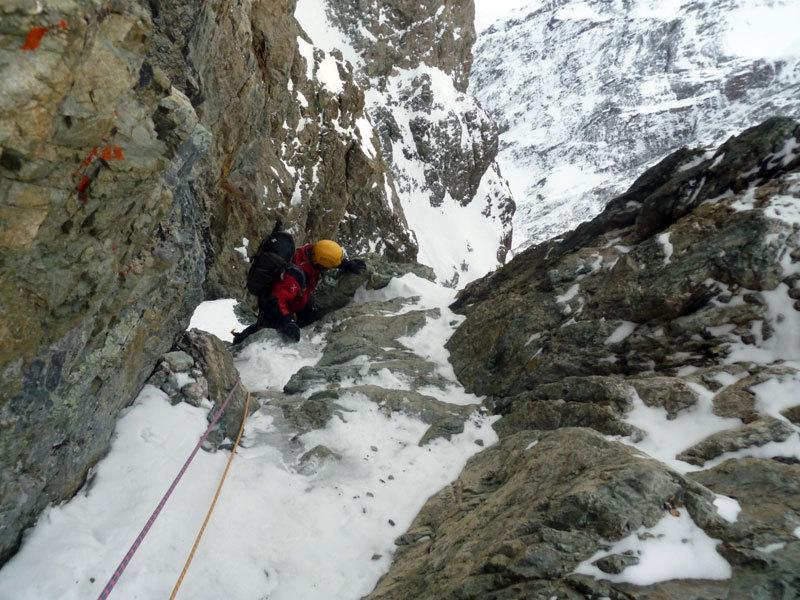 Sergio De Leo nel canale del Col des Avalanches, Marcello Sanguineti