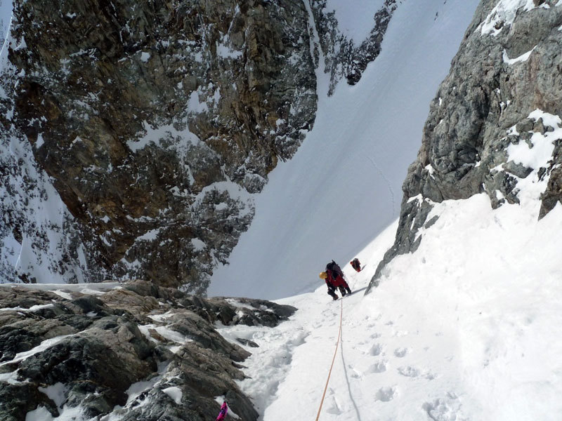 Reaching the start of the gully, Marcello Sanguineti