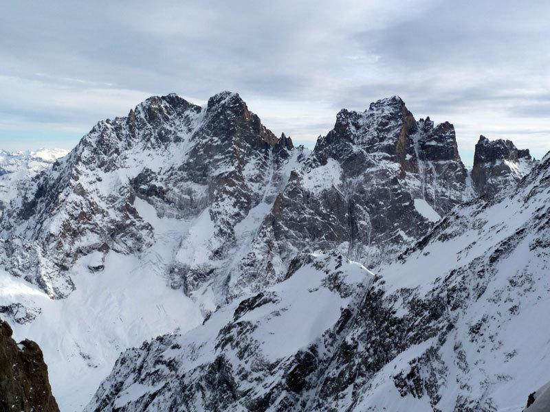 Panorama dall'uscita della goulotte, Marcello Sanguineti