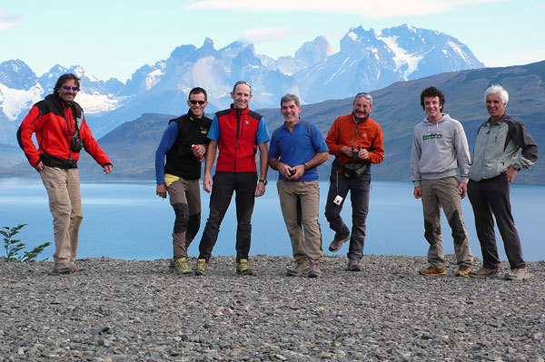 Trentini in Patagonia: Elio, Rene', Rolando, Erik, Franco, Daniele, Valerio , Arch. Larcher, Leoni, Orlandi