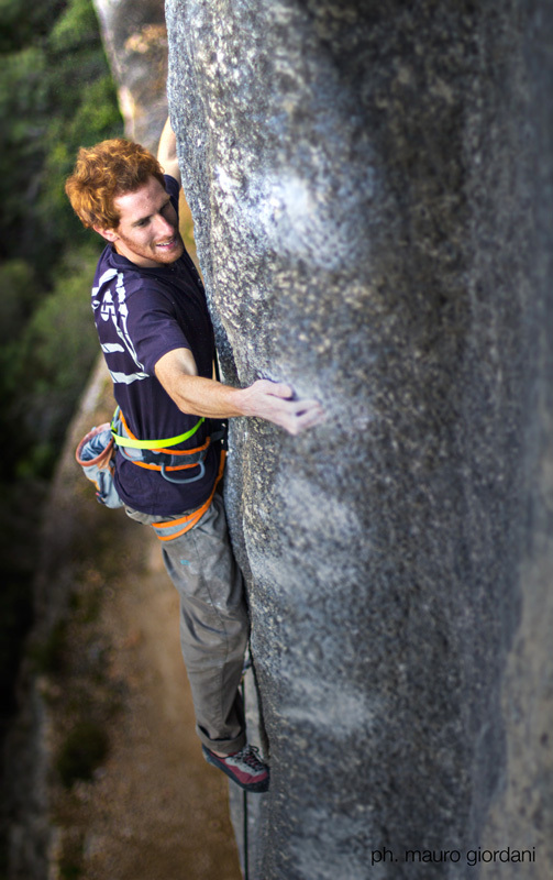 Gabriele Moroni on La Nevera Severa 8c+/9a at Margalef in Spain, Mauro Giordani