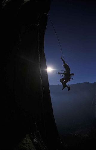 Leo su El Capitan, Yosemite., archive Leo Houlding