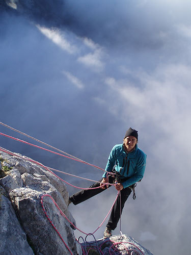 Close to the summit of Naranjo de Bulnes, Spain., archive Leo Houlding