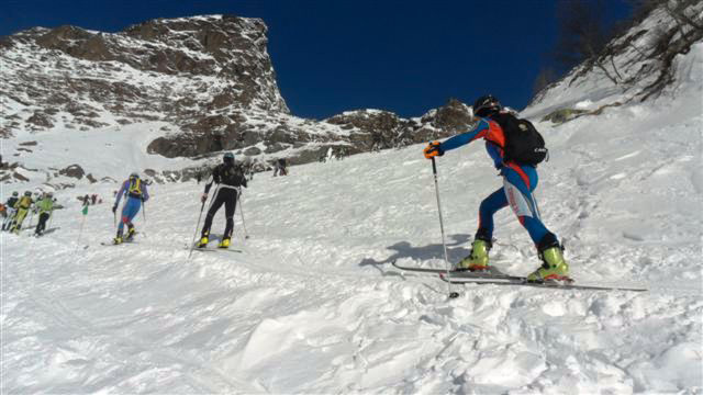 Una fase di gara del Devero Ski Alp 2013, International Ski Tour 2013
