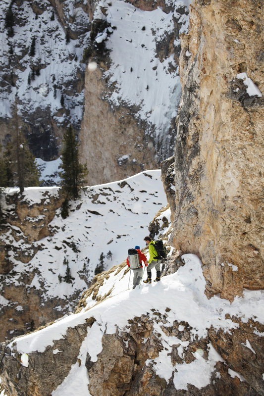 Senza Piombo (M10 WI 5, 140m, 27 + 30/01/2013, Albert Leichtfried, Benedikt Purner) Val Lunga, Dolomites, Klaus Kranebitter